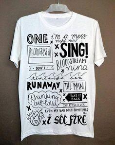 f39d36724c 31 Best ed sheeran images in 2017 | T shirts, Ed Sheeran, Tee shirts