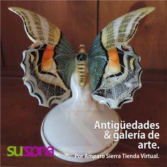 #Antigüedades & galería de #arte. Mariposa en porcelana. País de origen: Alemania. Elaborada en 1990. Dimenisones: 7cm de alto x 12cm de ancho. $120,000 COP