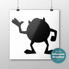 Monsters Inc. Mike silhouette file svg eps by SilhouetteGraphics
