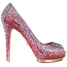 Le Silla Swarovski Crystal Peep-toe.#shoes