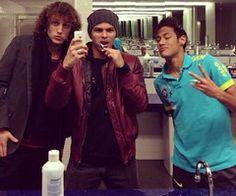 David luiz, thiago silva and neymar ♡