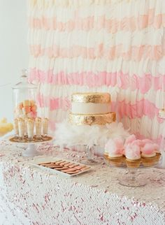 Perfectly girly bridal shower details: http://www.stylemepretty.com/2014/07/17/15-perfectly-girly-bridal-shower-details/ | Photography: http://lizbanfield.com/