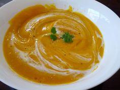 Embarrassingly Easy Pumpkin Soup with Coconut Cream
