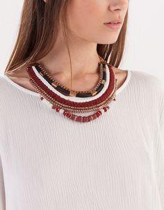 Collar multi cadenas y beads - COMPLEMENTOS - MUJER | Stradivarius España