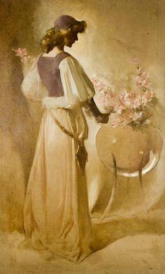 John White Alexander, Portrait of Annie Russel (1900)