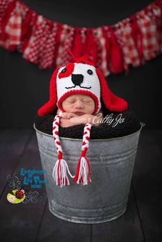 Lovie Heart Valentine Puppy Hat Photo Prop by LadybugsnLilyPads #mmmakers #spreadingthemadness