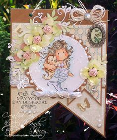 Ingredients - Featured product - 7 Gypsies board kit banner Image - Magnolia, Pearl Tilda, Sentiment - Magnolia Medium - Copics Papers - My Minds Eye, Portobello Road Flowers - Prima hydrangeas & roses Pearls - Melissa Frances & Hero Arts Twine - Hemptique Brad - American Crafts  Charm - Darice Butterfly trinket - Bo Bunny Tools - Magnolia Doo Hickey leaves & heart swirls, Martha Stewart frond leaf & classic 3-in-1 butterfly punches
