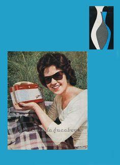 Advertising on radio portable Tesla Minor, 1958.Czechoslovakia