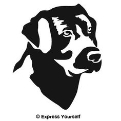 Good Ol Lab (Black  Image Facing as Shown  Large) Decal Sticker  Hunting Dog Collection  Labrador Retriever