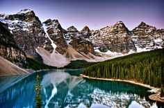 Most-Photographed Moraine Lake – Canada
