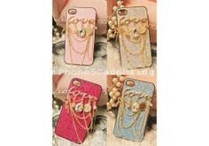 iPhone 4 Case, iPhone 4s Case, iPhone 5 Case, Cute iphone 4 case, case iphone 4, Glitter iphone 4 case, Glitter iPhone 5 case love charm by iPhone5CaseBling, $13.98