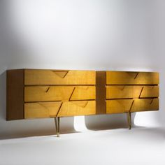 Gio Ponti / wall-mounted dressers, pair < Important Design Session 9 December 2007 < Auctions Mcm Furniture, Refurbished Furniture, Furniture Styles, Vintage Furniture, Furniture Design, Gio Ponti, Mid Century Modern Design, Mid Century Modern Furniture, Muebles Art Deco
