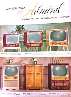 1954 Admiral televisions