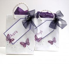 Gift Bags for Wedding Guests Butterfly