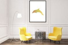 #dolphin #animallover #animalprints #mustarddecor #yellowprints #print #homedecor #homedesign #yellow #nursery https://www.etsy.com/uk/listing/503063951/dolphin-printable-mustard-yellow-art