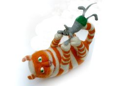 Sold - but SO gorgeous!Needle Felted Toy - Orange cat - Soft Sculpture - Rusteam.Home decor.. $62.00, via Etsy.