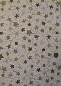 Kuviokartonki tähtikiemurat l.valk A4