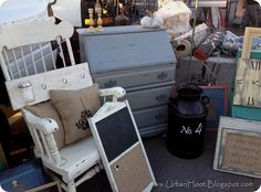 Why stop dreamimg when you wake up...Cute sign! and a great set up for a flea market