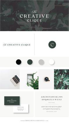 Emily Wells Design | Shop The Brand Collection Now | Budget-Friendly Premade Logo Designs | Customized Logo Designs for Your Business Or Blog | Creative Logo | Green | Web-Design | Print | Social Media | Customized | Creative Clique