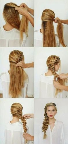 Different Braids Tutorials Braids - a relatively new word among modern stylish hairstyles. Salons offer customers not only variations on the theme a l. , 45 Cute Different Braids Tutorials That Are Perfect For Any Occasion Braided Hairstyles Tutorials, Pretty Hairstyles, Easy Hairstyles, Stylish Hairstyles, Latest Hairstyles, Braid Hair Tutorials, Hair Braiding Tutorial, Hairstyle Ideas, Summer Hair Tutorials