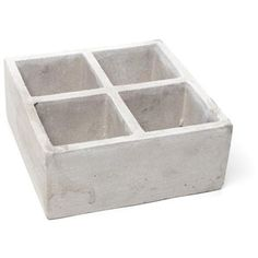 Perfect for spices, condiments or jewelry Square Planters, Flower Planters, Urban Decor, Herb Pots, Backyard, Patio, Planter Boxes, Getting Things Done, Concrete