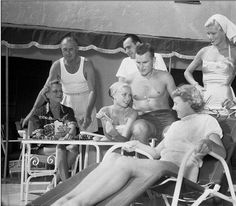 Family fun: Grace Kelly (born in Philadelphia) with her parents and siblings in Ocean City, New Jersey, in September, 1954