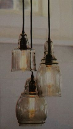 rustic glass pendant lighting. pottery barn paxton 3 light glass pendant new in box chandelier rustic mason jar country shabby lighting o