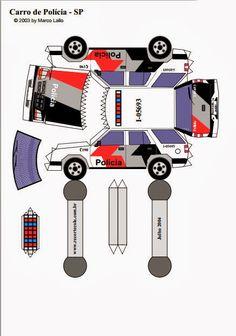 Molde de carro de policia para maquete