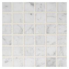 "Marble Mosaic Tile 3/4"" Square   Bianco Carrara"