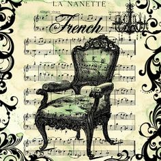 **FREE ViNTaGE DiGiTaL STaMPS**: Free Digital Scrapbook Paper - Grungy French Chair Collage