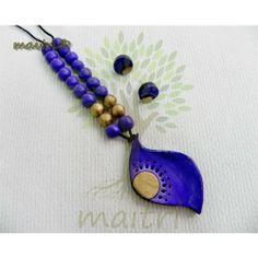 Terracotta Jewellery  - Purple Pearl - Designer Terracotta Jewelry  www.facebook.com/maitricrafts.maitri www.facebook.com/maitricrafts maitri_crafts@yahoo.com