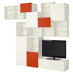 BESTÅ Storage combination - IKEA Laundry storage wall, but in different colors. Max depth 15 3/4""