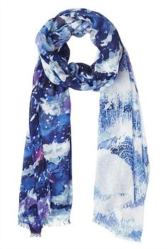 Hats Scarves & Gloves - Diffused Print Scarf