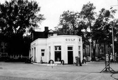 Gulf Gas Station @ 104 McCamly Avenue N -from a 1940 survey of Battle Creek buildings (Willard Lib) Michigan