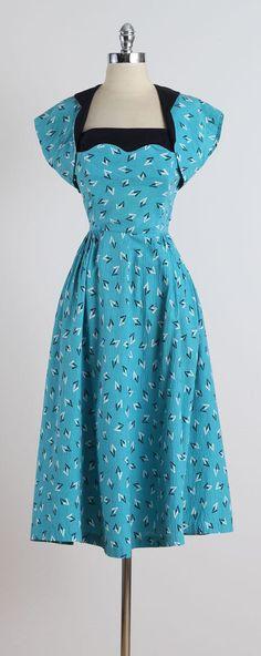 Atomic Picnic . vintage 1950s dress . 50s by millstreetvintage