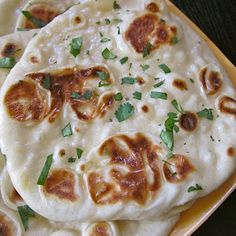 Naan- first experience making it and it was a huge success. Turned out soft and fluffy and was great with my homemade version on Zio's dipping spices and olive oil.