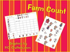 Farm Count Math Workstation (from A Teacher's Touch)