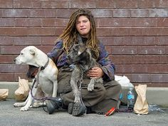 homeless people with animals - Google Search