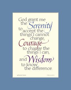Serenity Prayer Photo: This Photo was uploaded by babygyrlktm. Find other Serenity Prayer pictures and photos or upload your own with Photobucket free i. Aa Quotes, Quotable Quotes, Great Quotes, Quotes To Live By, Life Quotes, Inspirational Quotes, Prayer Quotes, Awesome Quotes, Wisdom Quotes