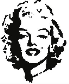 Marilyn Monroe ... by StephanieFalcon | Crocheting Pattern - Looking for your next project? You're going to love Marilyn Monroe Graph / Chart by designer StephanieFalcon. - via @Craftsy