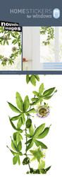Nouvelles Images Home Stickers Reusable Passion Flowers Window Clings