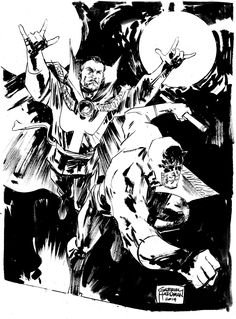 gabrielhardman:  Doctor Strange - Daredevil sketch I had to cancel NYCC 2014 but everybody who payed for preordered sketch is still getting theirs. Here's one of them.