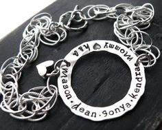 Mothers Bracelet  Personalized Bracelet  Name by yourcharmedlife, $70.00