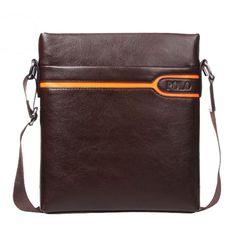 Men Messenger High Quality Cross-body Handbag Fashion Faux Leather Black Brown