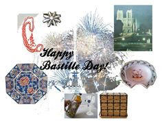 """""""Bastille Day"""" by reveriefrance ❤ liked on Polyvore featuring interior, interiors, interior design, home, home decor, interior decorating, Sarah Coventry, paris, redwhiteandblue and france"""
