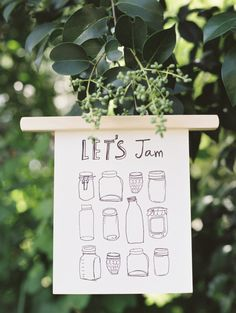► Lets Jam is an original art illustration by Eunice Kim. Inspired by my love and fascination with canning jars, this quirky and fun print was Hearth And Home, Canning Jars, Papers Co, Fun Prints, Fascinator, Original Art, Illustration Art, Place Card Holders, Let It Be