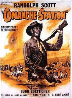 COMANCHE STATION (1960) - Randolph Scott - Movie Poster.