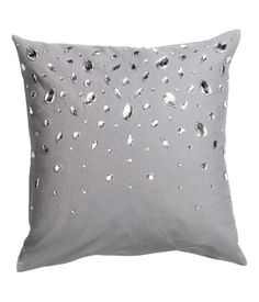 Rhinestone Cushion Cover - from H&M from H&M. Saved to Room Decor. Diy Pillows, Decorative Throw Pillows, Cushion Covers, Pillow Covers, Glam Room, H&m Home, Card Box Wedding, Decor Interior Design, Decoration
