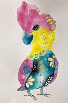 Gorgeous Galah Original Artwork, Original Paintings, Yellow Turquoise, Cockatoo, Image Shows, Paper Size, Watercolor Paper, Dinosaur Stuffed Animal, Bird
