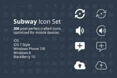 Check out Subway Icon Set for Developers by Pixle on Creative Market
